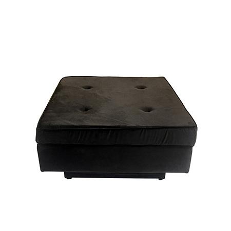Puff Futon em veludo marrom 80 x 80 x 0,44h