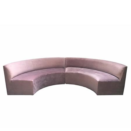 Sofá Terezinha em veludo rosa seco 2,15 x 0,80 x 0,80h (Cada módulo)