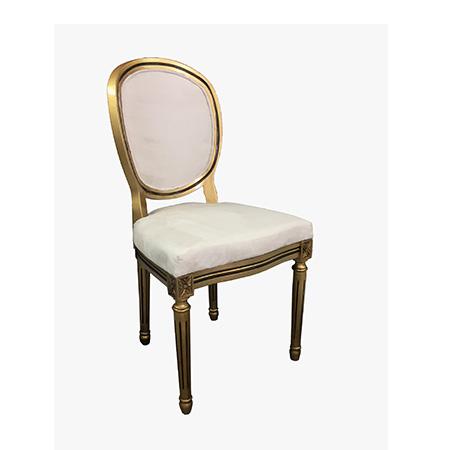 Cadeira medalhão dourada 0,53 X 0,51 X 1,02h