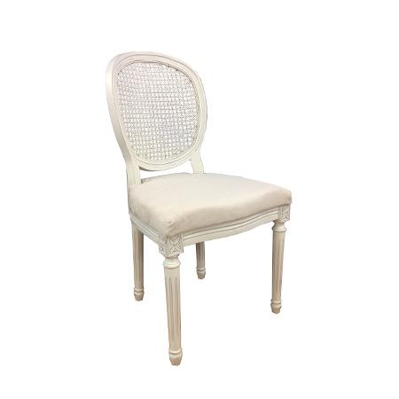 Cadeira medalhão palhinha 0,53 X 0,51 X 1,02h