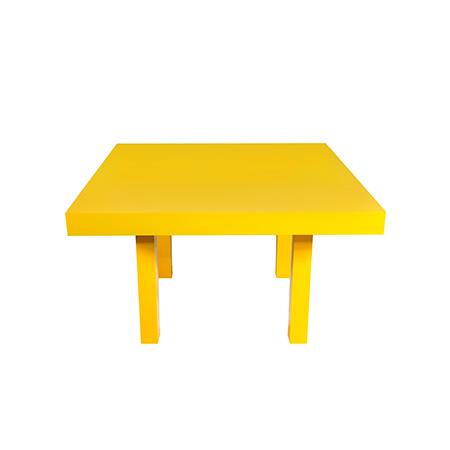 Mesa Color Amarela Quadrada 1,30 x 1,30 x 0,78h