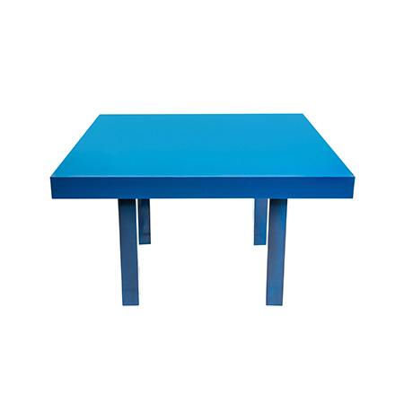 Mesa Color Azul Quadrada 1,30 x 1,30 x 0,78h