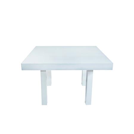 Mesa Color Branca Quadrada 1,30 x 1,30 x 0,78h
