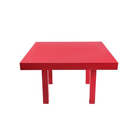 Mesa Color Vermelha Quadrada 1,30 x 1,30 x 0,78h
