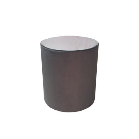 Mesa Rose para Bolo em Tecido Cinza Fuzil 0,75 Diam x 0,80h