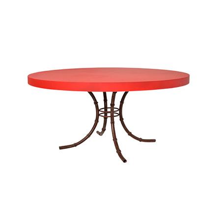 Mesa Color Redonda Vermelha 1,50 Diam x 0,75h