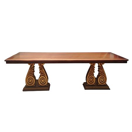Mesa em Madeira Folha Dourada 3,00 x 1,20 x 0,80h