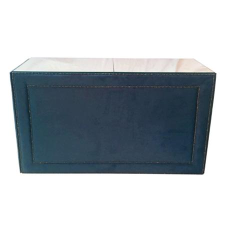 Buffet Reto Tachinha no veludo azul cobalto 1,50 x 0,60 x 1,00h