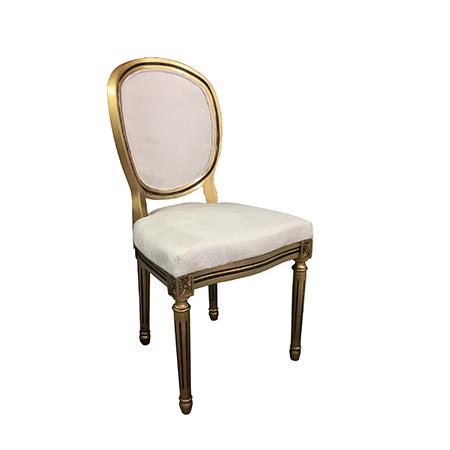 Cadeira Medalhão Dourada 0,53 x 0,41 x 1,02h