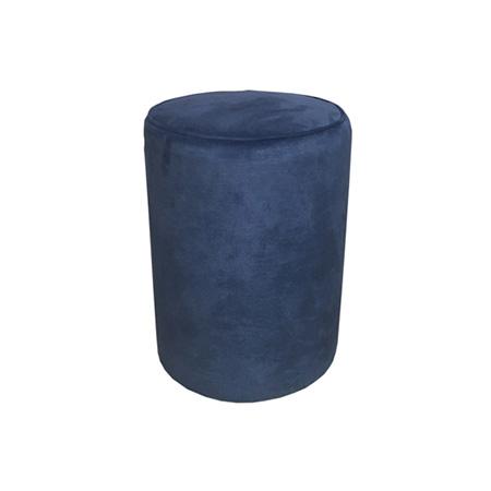 Puff Redondo em veludo azul marinho 0,30 Diam x 0,42h