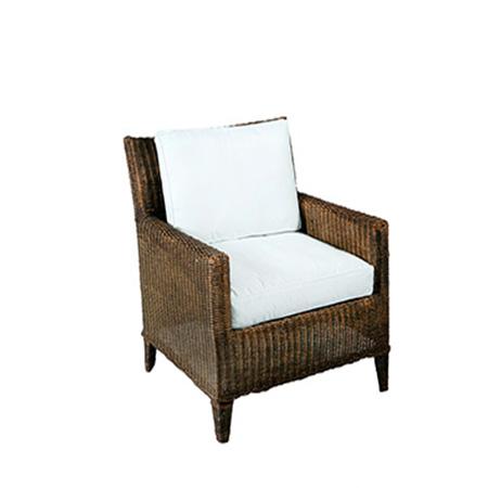 Poltrona Angra com Assento em Sarja Branca 0,72 x 0,65 x 0,85h