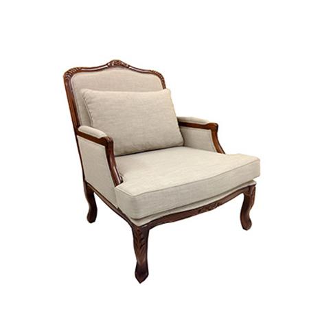 Poltrona Rita com Assento no Linho Bege 0,74 x 0,66 x 0,96h