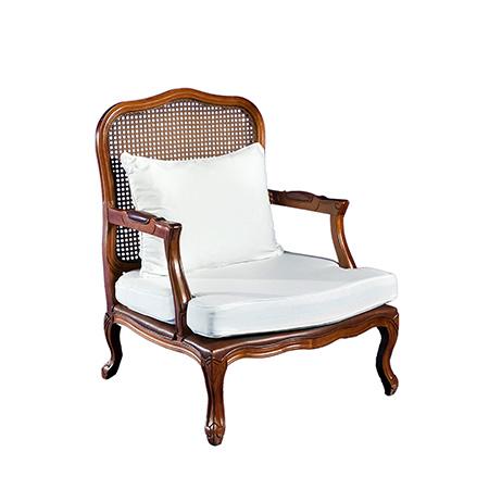 Poltrona Valentina com Assento em Sarja Branca 0,76 x 0,75 x 1,00h