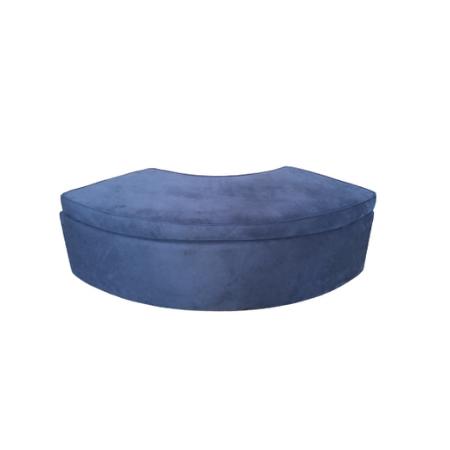 Banco 1/4 de Lua no Veludo Azul Marinho 1,70 x 0,63 x 0,52h