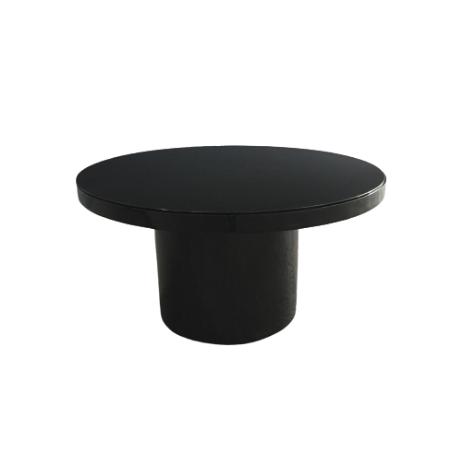 Mesa Cilíndrica em fórmica preta brilhante 1,45 Diam x 0,75h