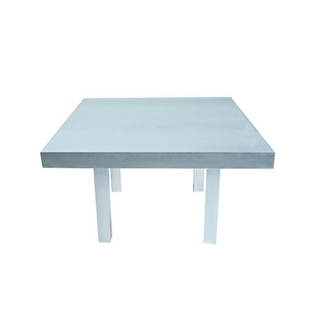 Mesa Color Prata Quadrada 1,30 x 1,30 x 0,78h