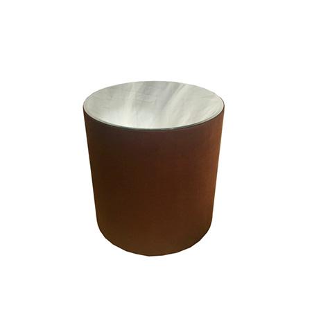 Mesa Rose para Bolo em Suede Cappuccino 0,75 Diam x 0,80h